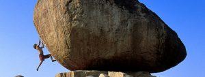 Chris Sharma bouldering in Hampi