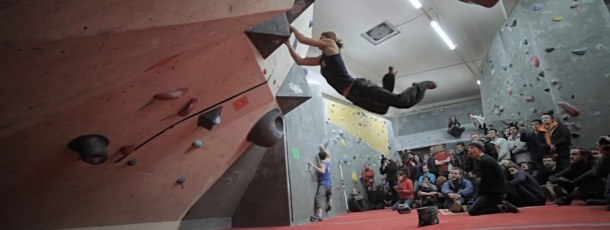 A climber during the Best of British Competition