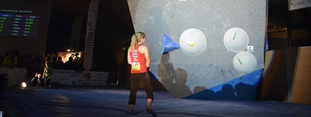 Shauna Coxsey during the Millau Bouldering World Cup