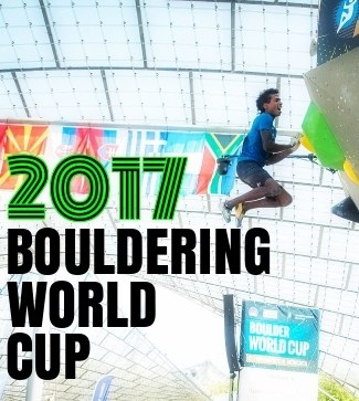 2017 Bouldering World Cup page